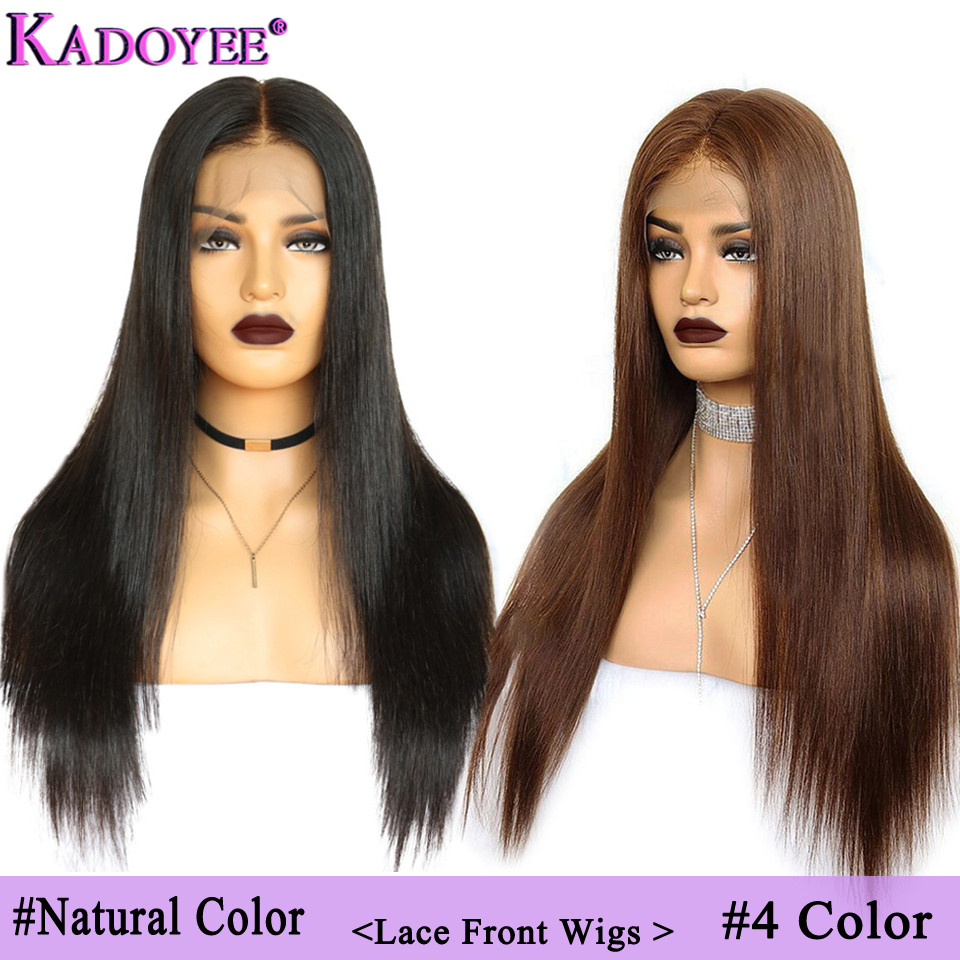 Brazilian Straight Lace Front Human Hair Wigs Pre Plucked Ombre Color Remy Hair 13x4 Front Lace Wig 130%150Density Middle Ratio