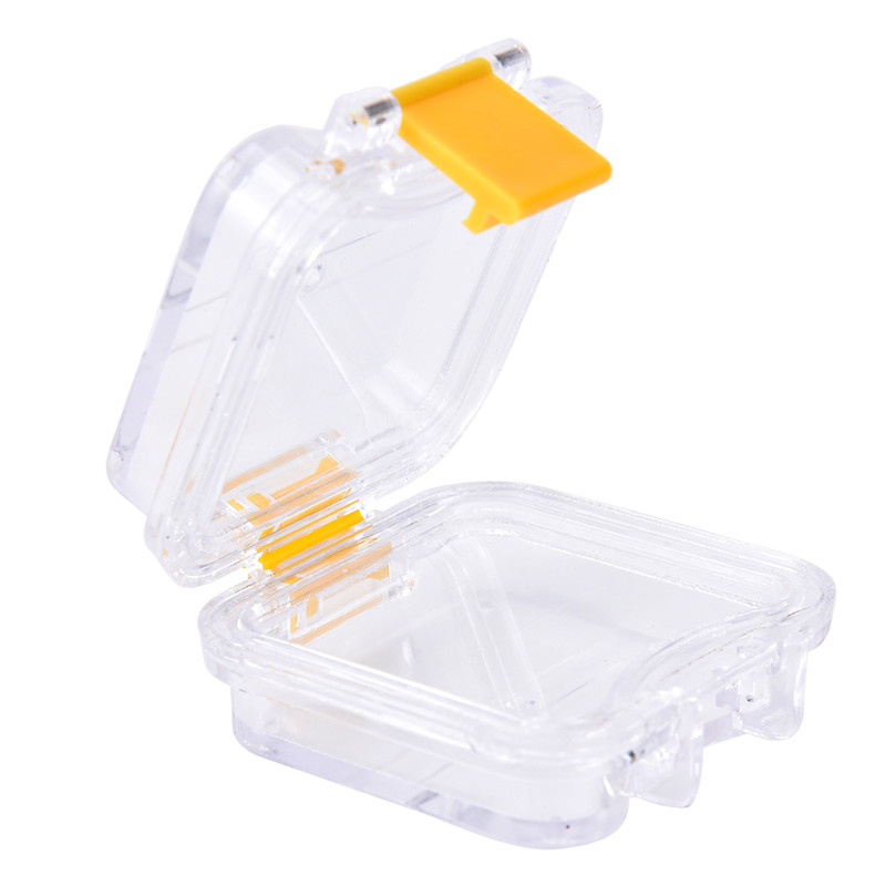 Storage Box With Hanging Net Container Artificial Tooth Organizer Transparent Tooth Box Denture Bath Box Case Dental False Teeth 1