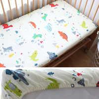 Детское постельное белье для новорожденных, детская кроватка из чистого хлопка, простыня, детский наматрасник для детей, 130x70 см, на заказ