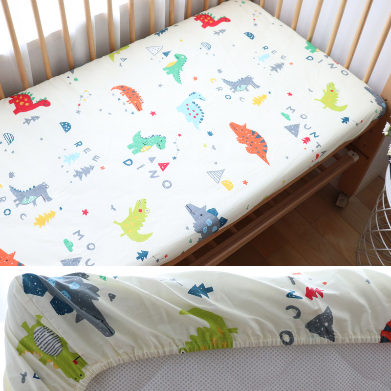 Baby Bedding For Newborns Baby Cot Pure Cotton Crib Fitted Sheet Kid Bed Mattress Cover For Children 130x70cm Accept Custom Make