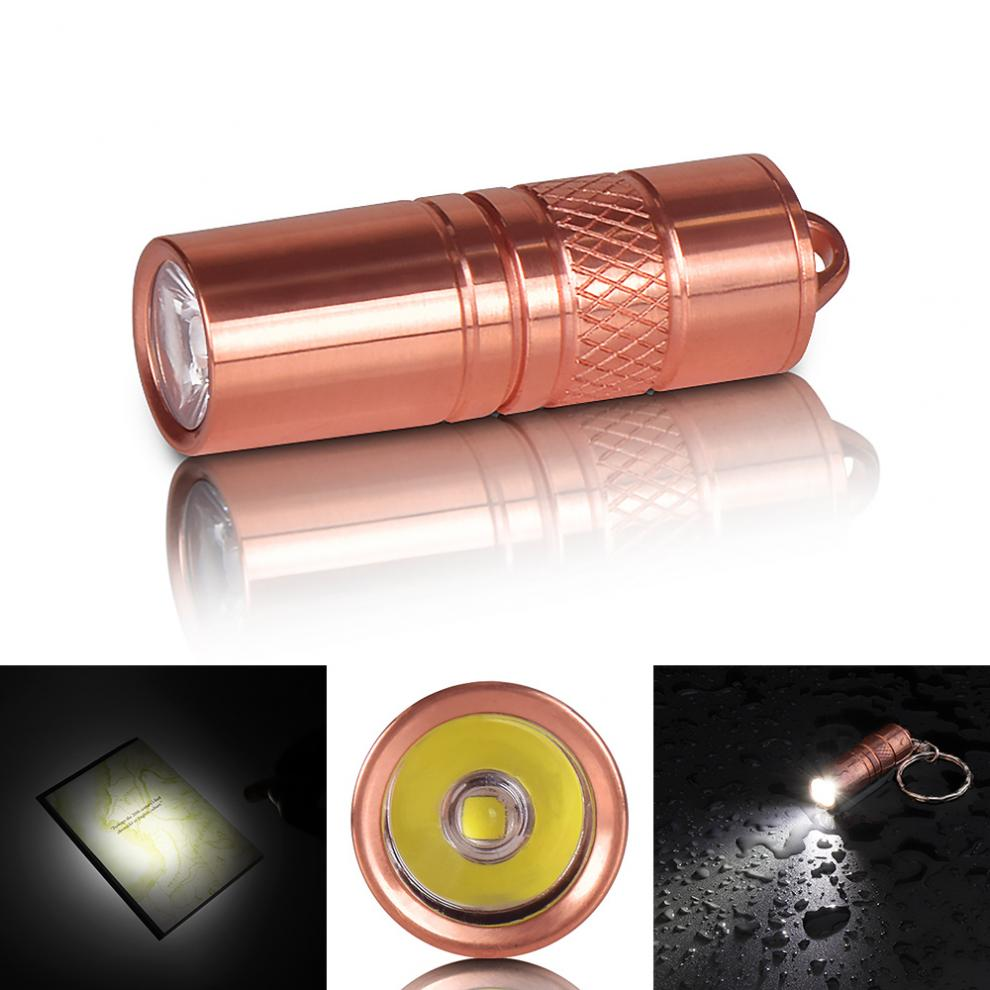Waterproof LED Mini Brass Flashlight M18 XP-G2 R5 5W Portable Torch Lamp With Micro USB Charge 3.7V For 10180 Battery