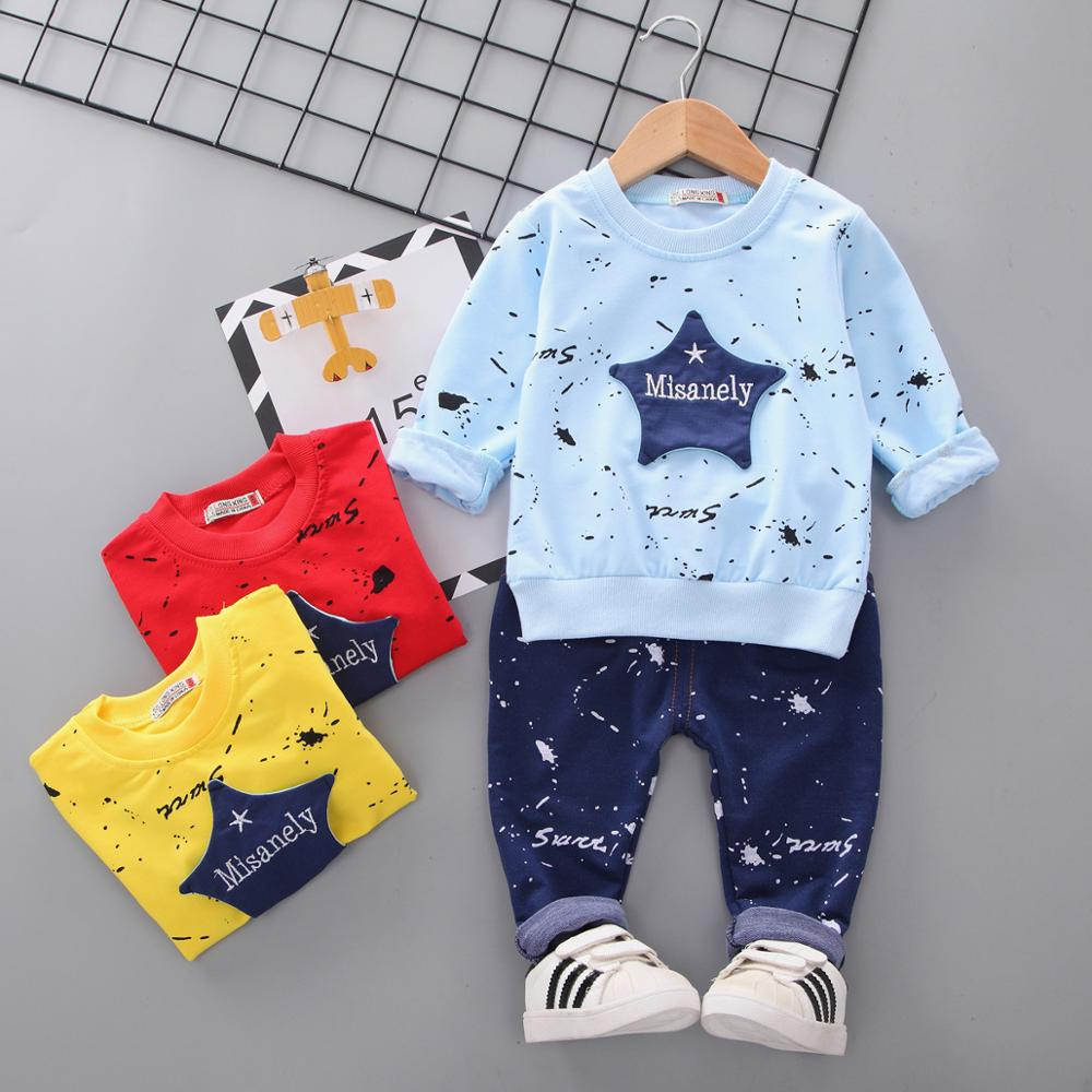 Kids Clothes Baby Boys Costume Star Camouflage Tracksuit Tops Pants 2PCS Children Newborn Boy Spring Outfits Girls Infantil Set