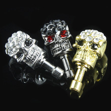 Anti Dust Plug 3.5mm Earphone Jack Accessories Metal Skull Stopper Cell Phone Charms for IPhone IPad IPod Samsung