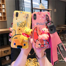 Sam S10 plus Cute case, Cartoon piglet winnie Soft back cover For Samsung Galaxy S9 plus S8 S8plus Note 8 note 9 + toy +Strap(China)