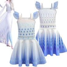 цена на NEW Girls Princess Elsa Anna sleeveless Ballet Dresses snow queen2 Christmas Birthday Party Cosplay Costume Vestidos