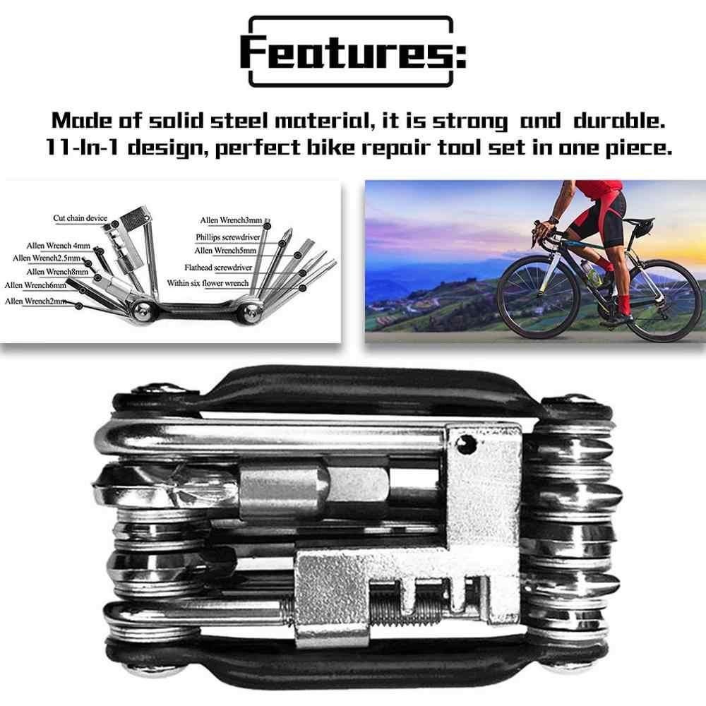 11 in 1 Bicycle Hex Spoke Wrench Screwdriver Bike Repair Tool Multi Function Kit