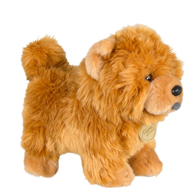 Chow Chow Doll Frise Puppy Stuffed Animal Dog Plush Toy Cute Simulation Pets Fluffy Dolls Birthday Gifts