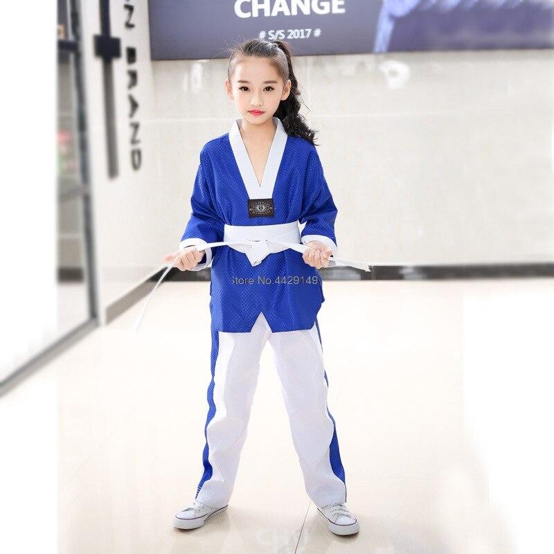 manga longa taekwondo dobok roupas terno de treinamento taekwondo