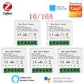 Tuya Zigbee 16A мини умный переключатель Wi-Fi 2 Way Управление, система автоматического управления