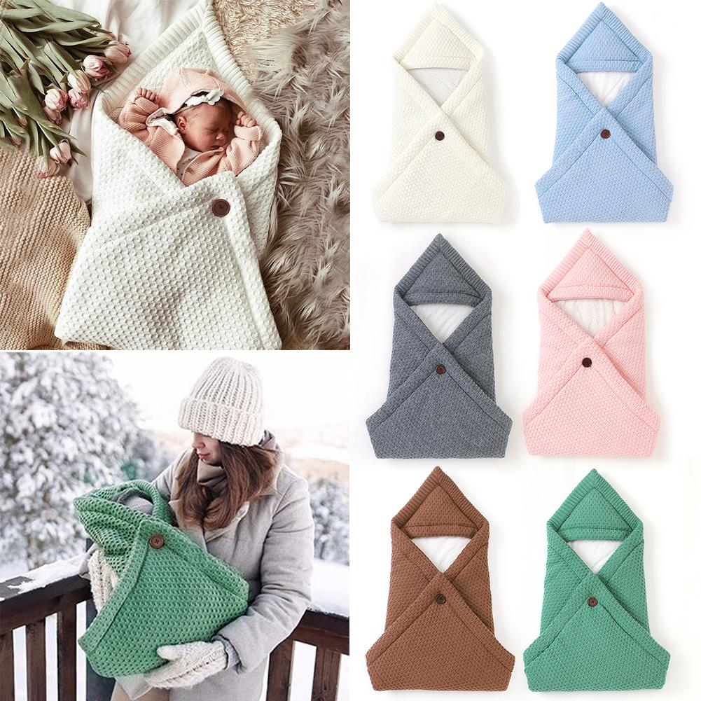 Non-woven Baby Sleeping Bag Newborn Infant Knitted Warm Blanket Swaddling Wrap Envelopes Mattress Kid Bedding Accessories