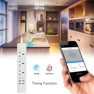 Image 5 - Smart Wifi Power Strip Surge Protector Multiple UK Outlets Electric Plug Socket USB Voice Remote Control by Alexa Google Home