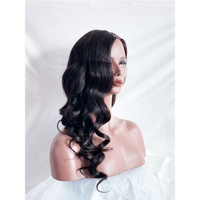 Thick Soft Silky Body Wave  Human Hair U Part Wig With Pre-plucked Hair Line True TO The Length U Wig Nice Smell  Fast Shipping