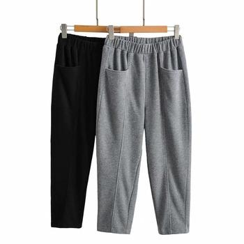 Wiosna 2021 koreańskie damskie solidne spodnie z elastyczną gumką w pasie nowe mody cienkie elastyczne rzodkiewki szarawary zwykłe długie spodnie tanie i dobre opinie HXJJP COTTON Poliester Kostki długości spodnie CN (pochodzenie) Wiosna jesień Stałe Na co dzień Harem spodnie Mieszkanie