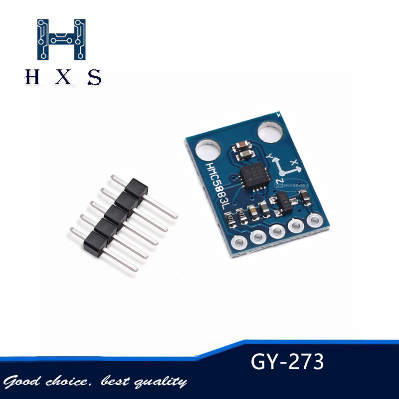 1pcs GY-273 3V-5V HMC5883L Triple axis compass magnetometer Three-axis Magnetic field Sensor Module for for Arduino <font><b>GY273</b></font> image