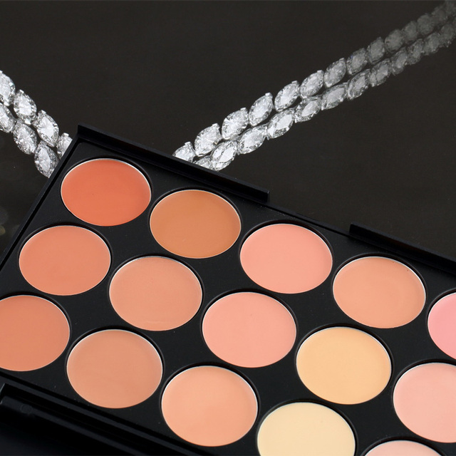 Newly 15 Color Fashion Women Professional Makeup Cosmetic Contour Concealer Palette Make Up+Foundation Brush CLA88 Uncategorized