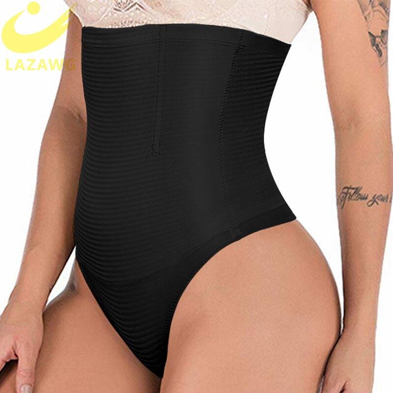 LAZAWG Seamless Butt Lifter Tummy Control Shapewear Thong Underwear Panties Invisible Control Knicker Body Shaper Hight Waist
