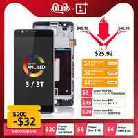 AMOLED Original Display Für Oneplus 3T Display LCD Touch Screen mit Rahmen Ersatz Für Oneplus 3 Display 3T LCD A3000 A3003