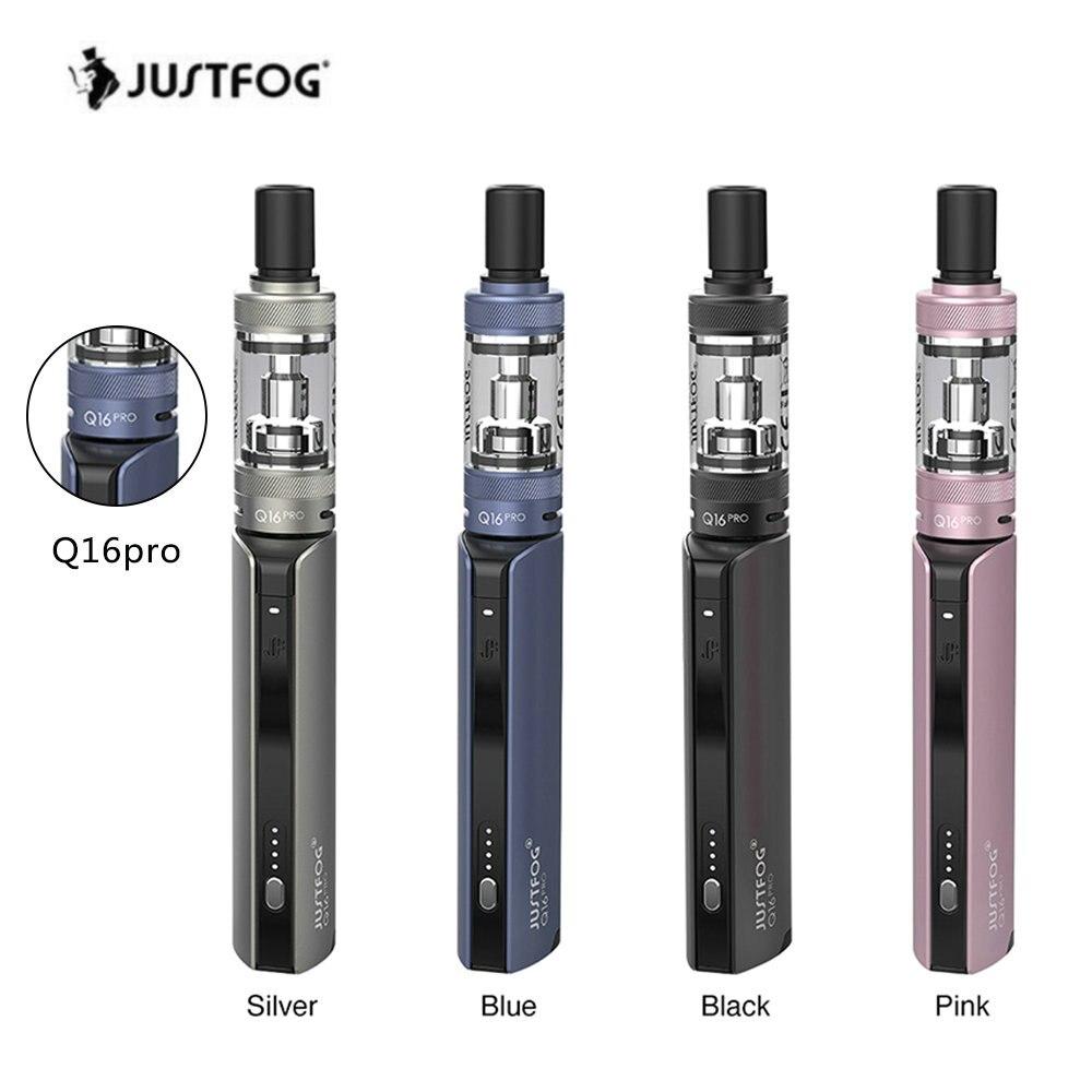 Newest Original JustFog Q16 Pro Kit 900mAh Battery LED With 510 Thread And 1.9ml Atomizer Voltage Vape Pen Kit