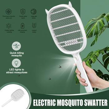 Elektryczna łapka na owady Fly Swatter Mosquito do wewnątrz i na zewnątrz zwalczania szkodników PR sprzedaż tanie i dobre opinie CN (pochodzenie) 2-warstwowa W 2 Godzin Elektryczne Kabel usb do ładowania