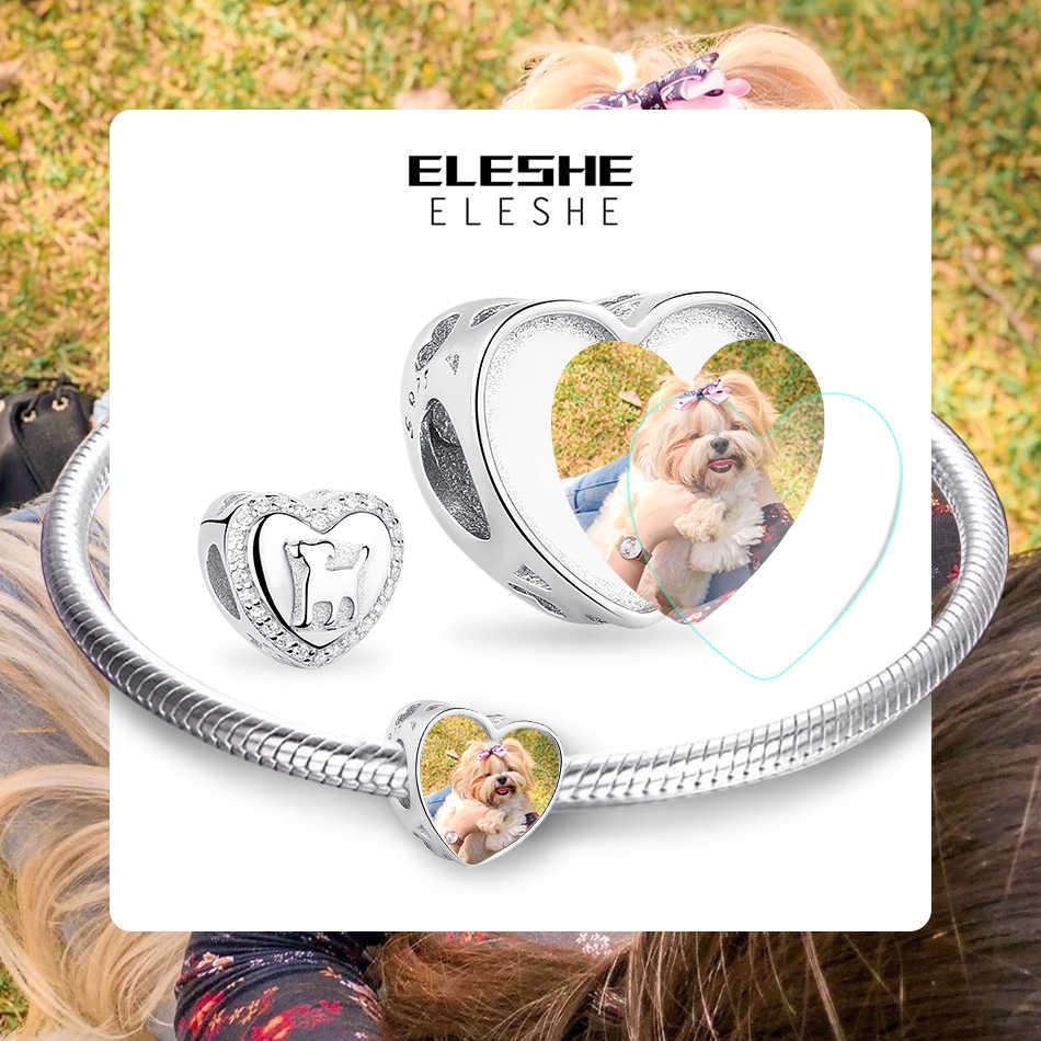 Оригинальный браслет ELESHE из стерлингового серебра 925 пробы с кристаллами в форме сердца и собаки Pandora