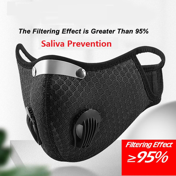 Washable Reusable Face Mask With Filter Activated Carbon PM 2.5 Windproof Bicycle Cyclin Face Mask