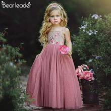 Bear Leader Girls Dresses Sleeveless Sling Tutu Dress Girl Gauze Floral Top Splice kids dresses for girls Princess Dress Girls cheap COTTON Polyester NYLON Knee-Length Square Collar REGULAR Cute Suspenders AZ2040-A Children A-Line Sweet Princess Dress