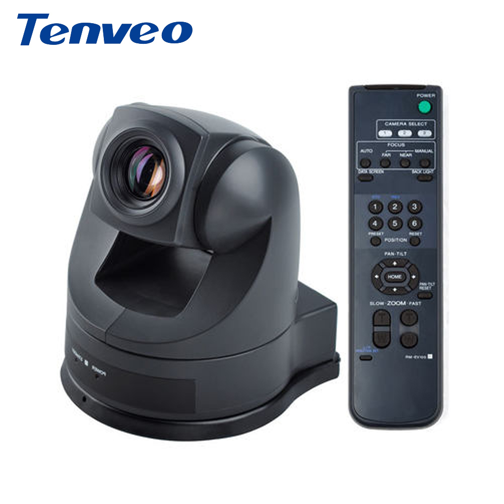 Tenveo V48U 18X Zoom Video Output USB AV/S-Video Video Conference Pan Tilt Zoom Camera Builtin For SONY Movement SD Video Camera
