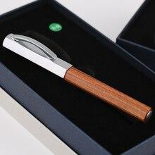 Moonman delike caneta fonte hexagonal de madeira, irídio ef/f/pequena dobrada, opcional, avançada, escritório, negócios presente