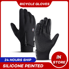 Cycling-Gloves Touch-Screen Motorcycle Riding Winter Windproof Warm Mtb Autumn