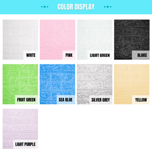 Image 5 - 12pcs 3D DIY Decor Home Brick Wall Stickers Living Room Waterproof Foam Room Adhesive Sticker Wallpaper Made Decals For Kitchen