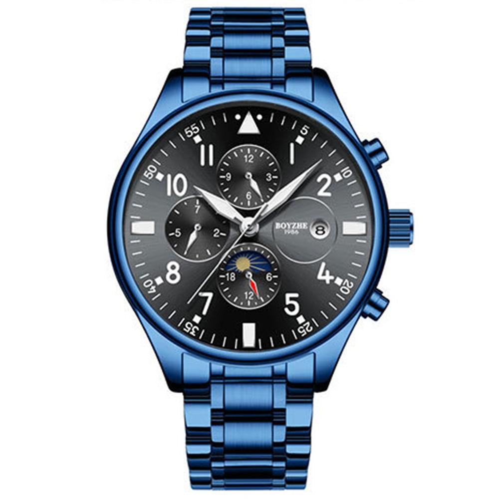 BOYZHE  Watch Brand Luminous Waterproof Business Full-automatic Mechanical Men Stainless Steel Wrist Watch  men watches