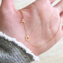 Letters Necklace Stainless Steel Custom Jewelry Personalized Mini Initials Gold Chain Women Collares De Moda 2019 BFF