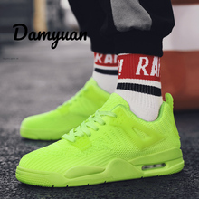 Damyuan 2019 New Fashion Air Cushion Shoes Men Casual Women Breathable Non-leather Lightweight Sneakers 39 S