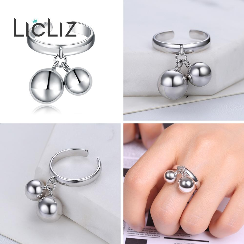 LicLiz 925 Sterling Silver Open Adjustable Cuff Rings for Women Round Circle Ring Jewelry Anillos Plata LicLiz 925 Sterling Silver Open Adjustable Cuff Rings for Women Round Circle Ring Jewelry Anillos Plata 925 Para Mujer LR0323