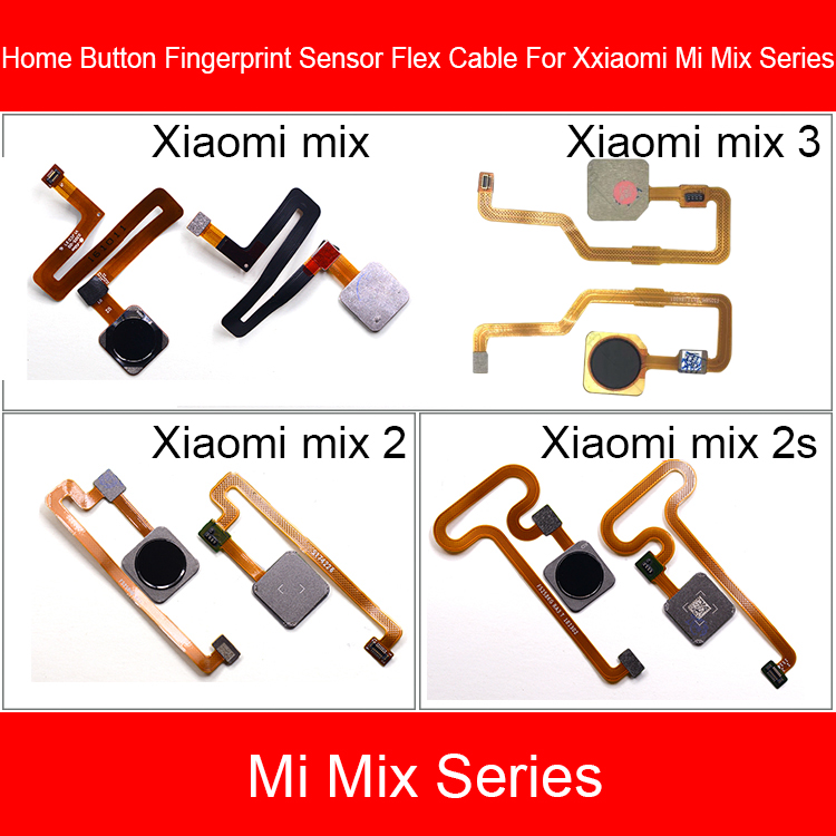 Fingerprint Home Button For Xiaomi Mi MIX 2 2S 3 Menu Home Return Button Key Recognition Sensor Flex Ribbon Cable Replacement
