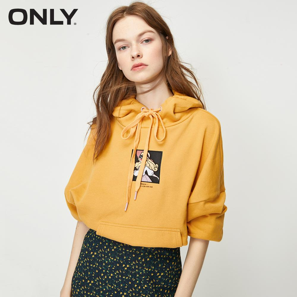 ONLY Women's Embroidered Hoodie | 12019S595