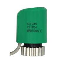 24v 230v nenhum nc fechou normalmente o atuador térmico elétrico para a válvula m28x1.5 do radiador do sistema de aquecimento underfloor do distribuidor