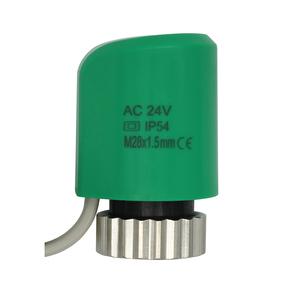 24v 230v NO NC normally open closed electric thermal actuator for manifold underfloor heating system radiator valve M28X1.5