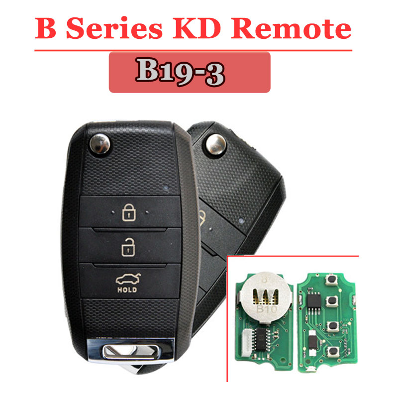 New Arrival Free Shipping B19-3 KD Remote 3 Button Remote Key For URG200/KD900/KD200(1 Piece)