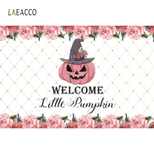 Laeacco Cartoon Pumpkin Pattern Photographic Backgrounds Party Decoration Baby Shower Photography Backdrops For Photo Studio