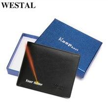 WESTAL Vintage oryginalne męskie portfele skórzane portfel skórzany karta kredytowa człowiek torebka portfel męski męskie małe portfele z etui na karty 8866