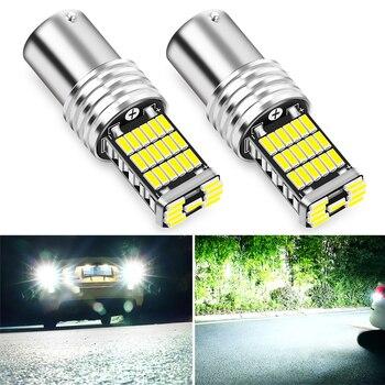 2pcs P21W 1156 BA15S LED Bulbs Car Reverse Light for Chevrolet Cruze Aveo Trax Buick Opel Astra Corsa Meriva Zafira Antara J