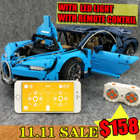 11.11 BIG SALE free shopp Bugatti Chiron Technic with APP RC LED Compatible 42083 20086 lepinBricks Building Blocks Toys Gifts