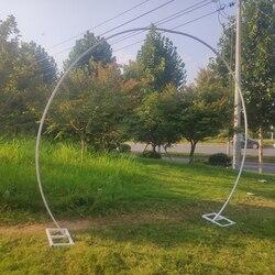 Arco de hierro metálico redondo para telón de fondo de boda soporte de arco de boda decoración de fiesta de cumpleaños de flores artificiales soporte para globos
