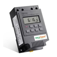 цена на TM616W-2 30A 220V Electronic Weekly Programmable Digital TIME SWITCH Relay Timer Control Timer Din Rail Mount