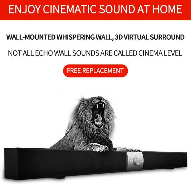 Soundbar home theatre TV Subwoofer Bluetooth Speaker Stylish Fabric Soundbox Hifi 3D Stereo Surround Support Aux 3.5mm TF For PC