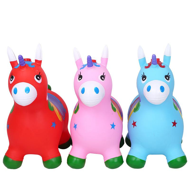 Kuulee Kid Inflation Horse Hopper Stable Plastics Baby Thicken Horse Riding Jumping Horse Child Kangoo Jumper