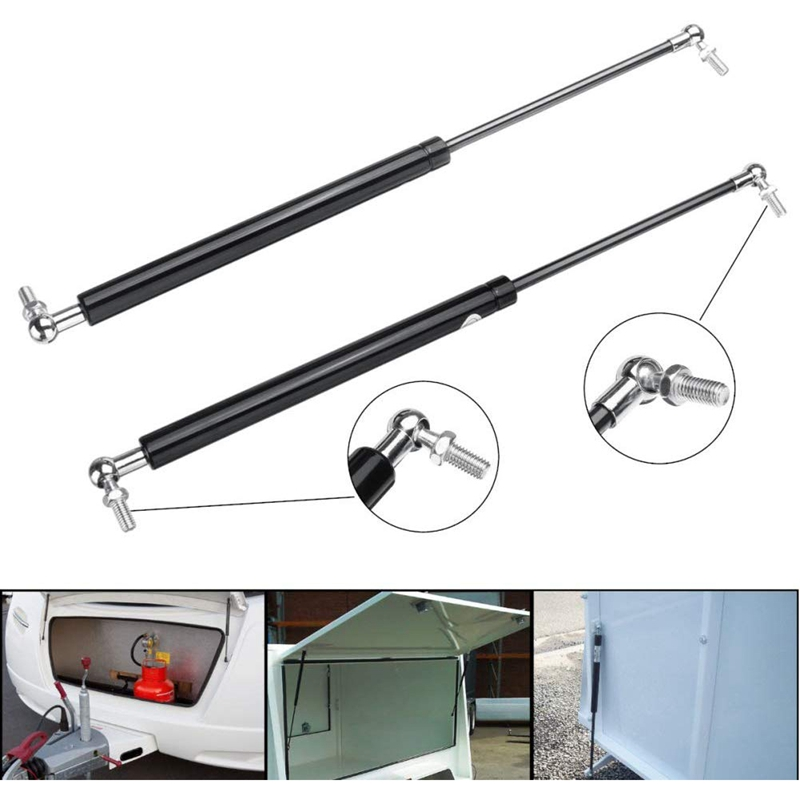 2Pcs Gas Struts Car Exterior Parts Handle Strut 8mm Shaft 430mm 150N Gas Spring Struts for Caravans Trailers Canopy Toolbox