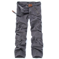 New Men's Pants, European And American Multi pocket Outdoor Camouflage Pants, All cotton Overalls, Large Men's Pants 2019