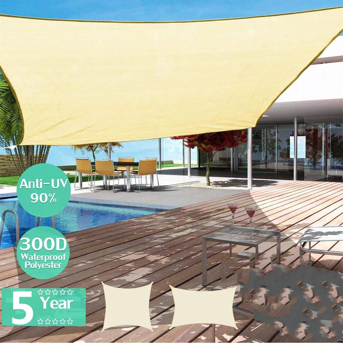 waterproof sun shelter sunshade outdoor sun sail canopy garden patio pool shade sail awning camping shade cloth large